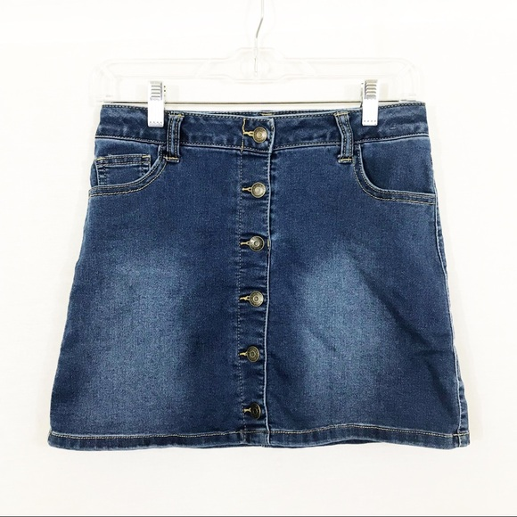 Cat & Jack Other - Button-Front Jean Skirt